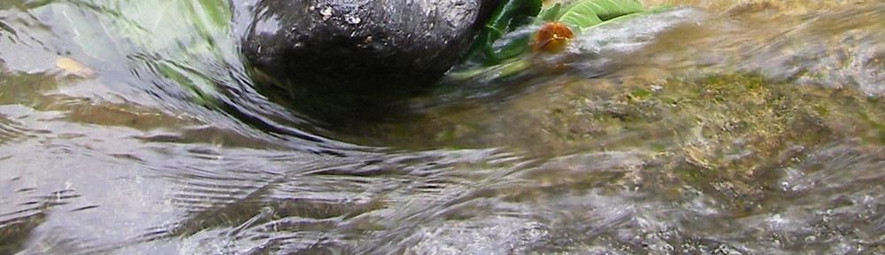 levensinspiratie stromend water